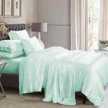 mint green silk duvet cover set