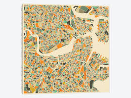 boston city map abstract city map of boston canvas wall by jazzberry blue