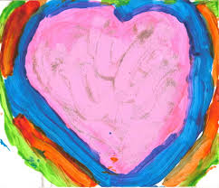 painted wine glasses paint a large heart shape starting the ears