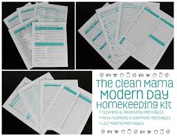 Modernday Houses by Modern Day Homekeeping The Printable Kit Clean Mama