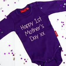 s day gift from baby personalised s day babygrow by simply colors