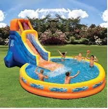 Backyard Water Slide Inflatable by Outdoor Inflatable Play Fun Pool Polyester With Pvc Layer Banzai