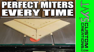 miter cuts on table saw perfect miters with a table saw miter sled 145 youtube
