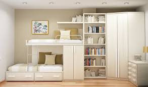 Bunk Bed Storage Pockets Livingroom Bunk With Bookcase Headboard Loft Bookshelf Storage