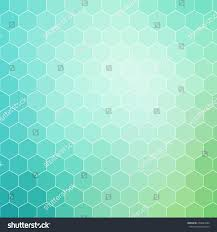 blue green colored hexagon pattern background stock vector