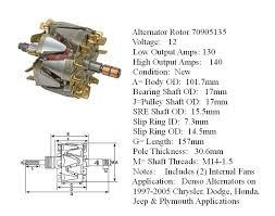 alternator armature denso alternators on chrysler dodge honda