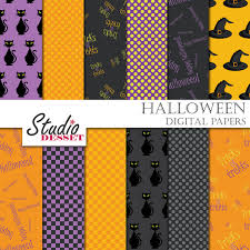 halloween clouds transparent background halloween digital papers spooky backgrounds black cat and wich