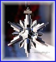 swarovski christmas ornament 2011 snowflakes pinterest