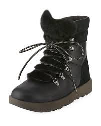 s ugg australia leather boots ugg viki water resistant mixed leather boot neiman