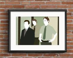 The Office Us Floor Plan Office Poster Etsy