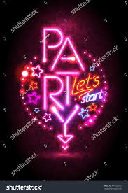 passion pink neon lights party design stock vector 441528082