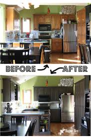Painted Kitchen Cabinets Before After Kitchen Cabinet Reveal Thanks Rustoleum Sugar Bee Crafts