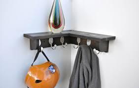 metal wall mounted coat rack with shelf