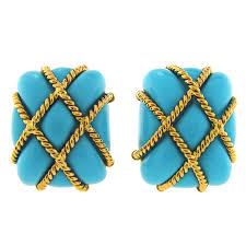 sixties earrings 1stdibs turquoise sixties earrings jewelry 1