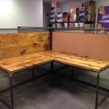 Wooden Table L Reclaimed Wood Desks Barnwood Desks Custommade