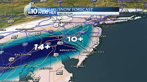 Snowfall Totals Map More Than A Foot Of Snow Expected In Some Areas Nbc 10