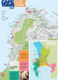 Map Of Cape Town South Africa by Atlantic Seaboard Map Cape Town