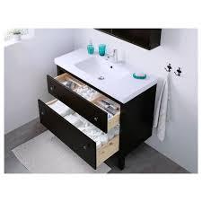 Hemnes Bathroom Vanity by Hemnes Odensvik Sink Cabinet With 2 Drawers Black Brown Stain