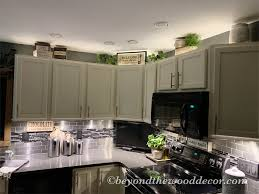 kitchen top cabinets decor decorating above kitchen cabinets beyond the wood diy