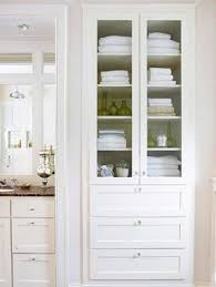 Tall White Linen Cabinet Linen Cabinet With Drawers Foter