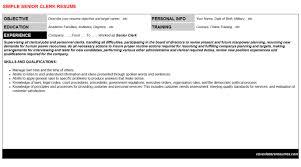 senior clerk cover letter u0026 resume