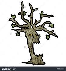 spooky tree cartoon stock vector 118460353 shutterstock