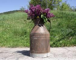Metal Jug Vase Metal Milk Jug Etsy