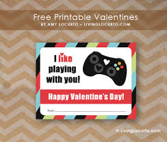 gamer valentines cards free printable valentines