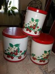 vintage metal kitchen canister sets vintage decoware kitchen canisters set of 4 vegetables ebay