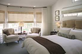 Transitional Bedroom Furniture by Bedroom Design Bay Window Curtain Rod Transitional Bedroom With