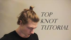 length hair neededfor samuraihair man bun how to do a top knot medium lenght hair youtube