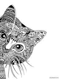Dessin mandala chat difficile adulte Coloriage Gratuit à Imprimer