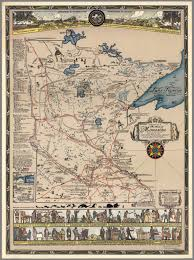 State Of Mn Map by Historical Map Of The State Of Minnesota The Land Of The Cloud