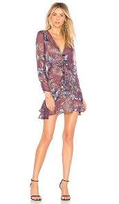 violet dress for lemons cleo floral party dress in violet orchid revolve