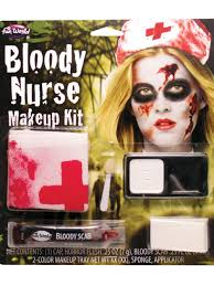 bloody nurse make up kit halloween nurses fancy dress accessory