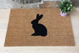 rabbit home decor door mats welcome mat custom door mats home decor rabbit