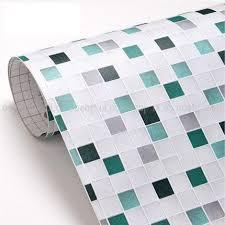 Waterproof Wallpaper For Bathrooms Pvc Mosaic Wallpaper Bathroom Wall Paper Waterproof Tile Stickers