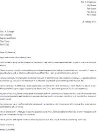 data entry clerk cover letter example icover org uk