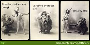 Wizard Of Oz Meme - the wizard of oz 1902 dorothy and cowardly lion by scott0077