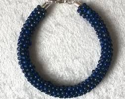 beading bracelet clasp images Lapis bead bracelet etsy jpg