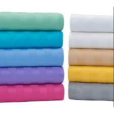 1800 Egyptian Cotton Sheets Egyptian Cotton 500 Thread Count Damask Stripe Bright Sheet Set Ebay
