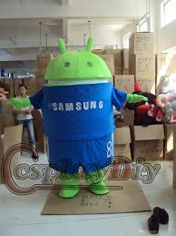 halloween costume rentals new samsung android robot mascot costume halloween costumes