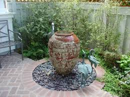 Rock Fountains For Garden Backyard Water Landscaping Ideas How To Build A