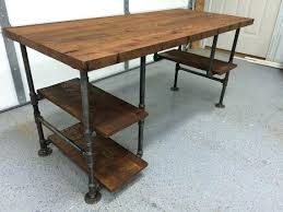 pipe desk with shelves amazing diy pipe desk design standing desks made with and shelves
