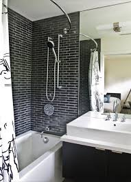 Bathroom Shower Curtain Rod Baroque Curved Shower Curtain Rod In Bathroom Modern With Shower