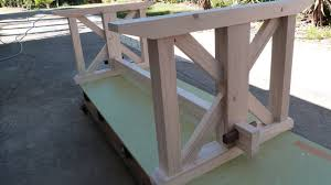 dining table base wood i make a rustic farmhouse dining table base using free scrap wood