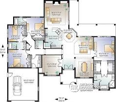 four bedroom floor plans house plan w3254 detail from drummondhouseplans com