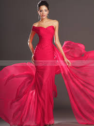 Evening Gowns Rhonda One Shoulder Fine Pleated Chiffon Mermaid Evening Dress