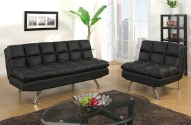 Contemporary Black Leather Sofa Black Leather Sofa Bed Futon