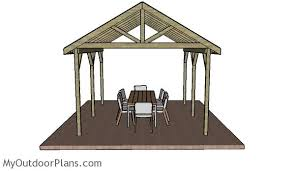 Free Woodworking Plans Diy Projects by 12x14 Outdoor Shelter Plans Myoutdoorplans Free Woodworking